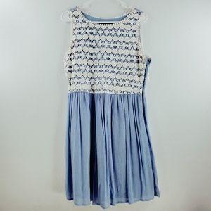 !SALE 5 FOR $25! Blue Rain Lace Mini Dress